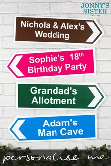 Personalised Small Directional Sign by Jonnys Sister