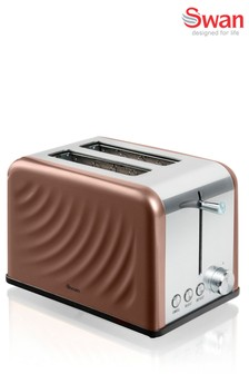 Swan Twist Copper 2 Slot Toaster