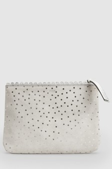 Leather Star Print Pouch