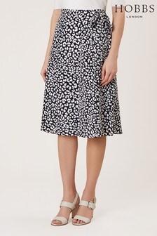 Hobbs Blue Iona Wrap Skirt