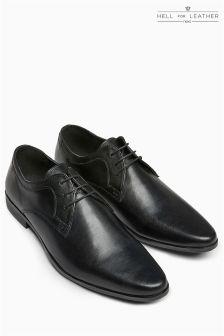 Классические фактурные туфли со вставками
