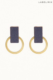 Mix/Wolf & Moon Blue Orbit Studs