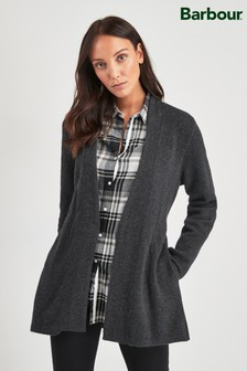 Barbour Tartan Charcoal Skye Belted Cardigan