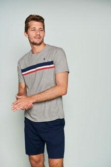 Stripe Jersey Short Pyjama Set