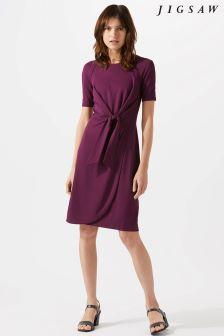 Jigsaw Purple Knot Waist Dress