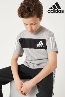 تي شيرت رمادي كتل لون Sport ID من adidas