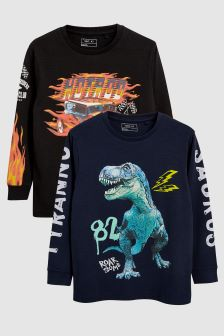 Graphic Long Sleeve T-Shirts Two Pack (3-16yrs)