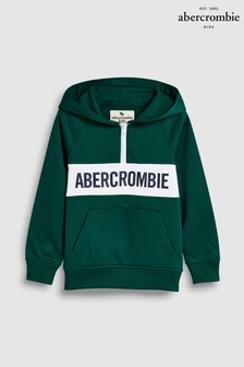 Abercrombie & Fitch Green Colourblock Hoody
