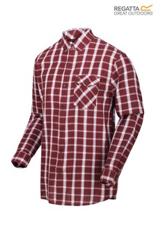 Regatta Purple Lonan Long Sleeve Check Shirt