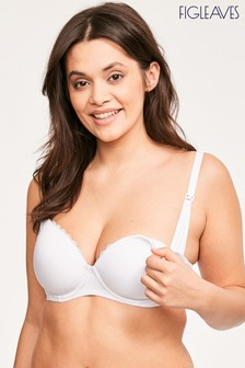 Figleaves Flexi Wire Moulded Nursing Bra White