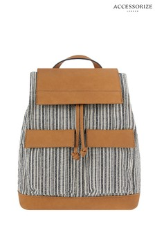 Accessorize Navy Stripe Traveller Backpack