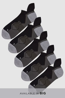 Lot de cinq paires de chaussettes de sport haute performance