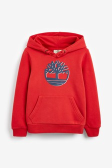 Timberland® Red Logo Hooded Sweat