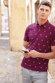 Palm Printed Polo