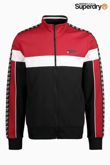 Superdry Black/Red Tricot Panelled Track Top