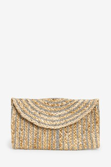 Jute Envelope Clutch Bag
