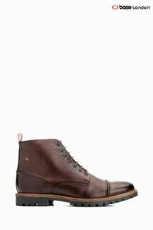 Base London® Brown Emerson Lace-Up Boots