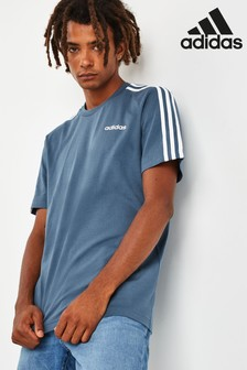 adidas Essentials Ink 3 Stripe T-Shirt