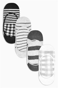 Stripe Pattern Footsies Four Pack