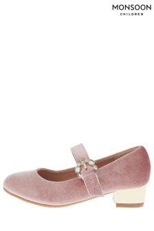 Monsoon Briony Buckle Velvet Charleston Shoe