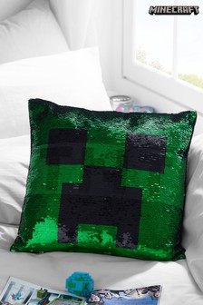 Minecraft Sequin Swoosh Cushion