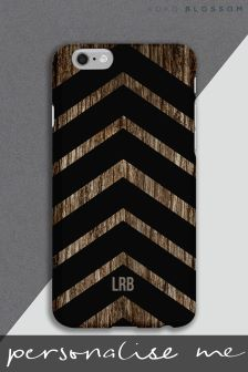 Personalised Chevron Wood Effect Tough Phone Cover by Koko Blossom