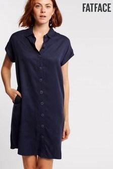 FatFace Blue Melissa Shirt Dress