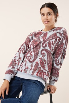 Paisley Print Sweat Top