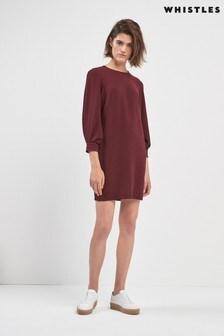 Whistles Burgundy Dress