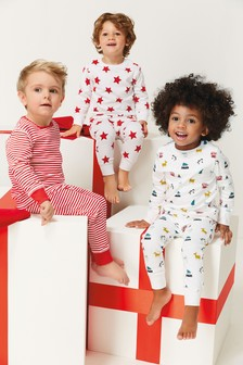 Star/Stripe Snuggle Fit Pyjamas Three Pack (9mths-8yrs)
