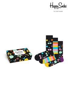Happy Socks Multi Socks Three Pack Singing Birthday Gift Box