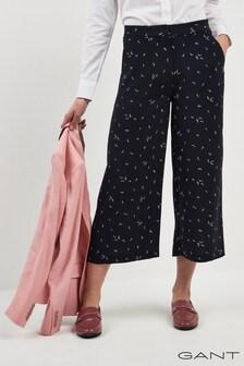 GANT Navy Printed Culotte Trouser