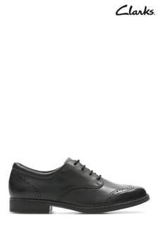 Clarks Black Sami Walk Y Leather Shoe