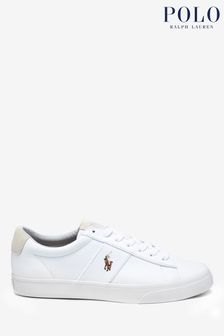 Polo Ralph Lauren® White Sayer Canvas Trainers