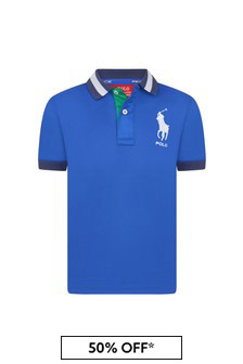 Ralph Lauren Kids Boys Blue Polo Shirt
