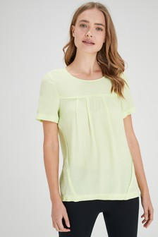 Woven Boxy T-Shirt