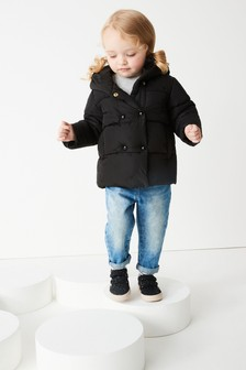 Star Embroidery Padded Coat (3mths-7yrs)