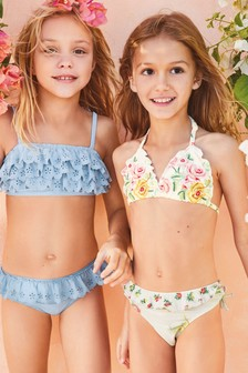 Floral Embroidered Bikini (3-16yrs)