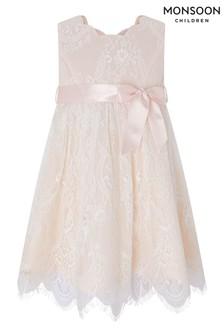 Monsoon Baby Rebecca Peach Dress