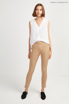 French Connection Brown Kara Twill Skinny Trousers