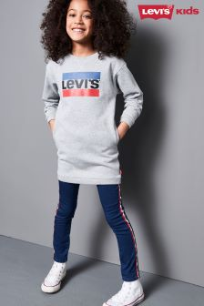 Levi's® Kids Grey Logo Bondues Sweat Dress