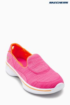 Skechers® Pink Go Walk 4 Speedy Sports Super Sock Slip On