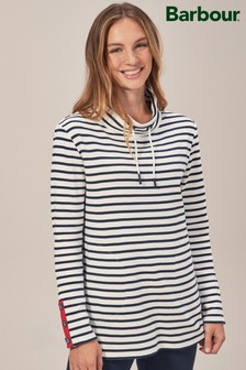 Barbour® Southwold White/Navy Stripe Sweat