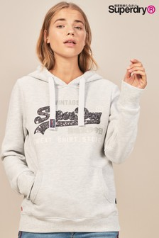 Superdry Sequin Logo Over Head Hoody