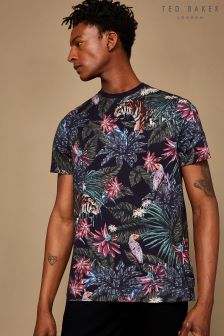 Ted Baker Navy Minte Tiger Printed T-Shirt
