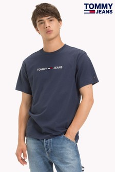 Tommy Jeans Navy Small Text T-Shirt