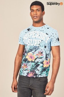 Superdry Blue Echo Printed T-Shirt
