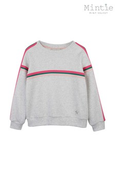 Mintie By Mint Velvet Neutral Neon Stripe Trim Sweatshirt