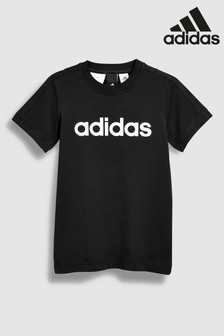 adidas Black Linear Logo Tee