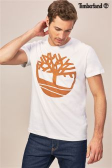 Timberland® White Large Logo T-Shirt